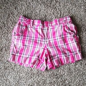 Tommy Hilfiger Pink Plaid Shorts 4